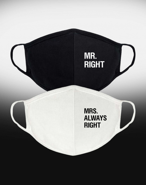 ПАРНЫЕ МАСКИ MR RIGHT and MRS ALWAYS RIGHT