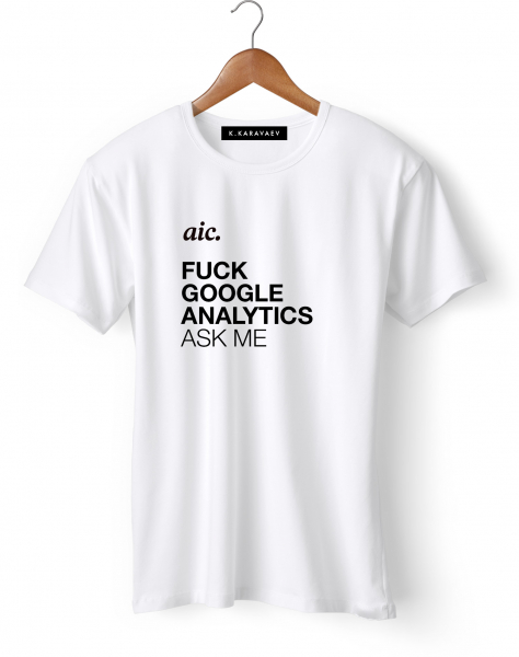 ФУТБОЛКА F*ck Google Analytics by aic.