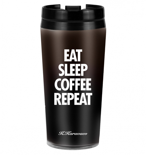 ТЕРМОСТАКАН EAT SLEEP COFFEE REPEAT