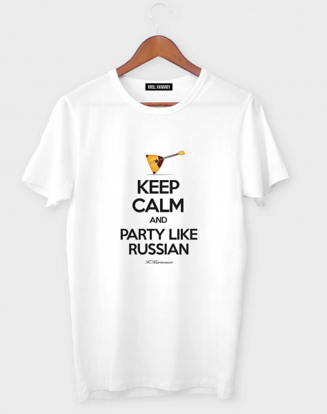 ФУТБОЛКА KEEP CALM AND PARTY LIKE RUSSIAN